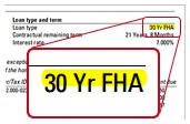 FHA loan document