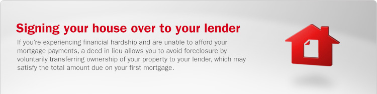Deed in Lieu of Foreclosure Information | Bank of America