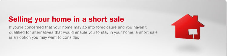 Selling your home in a short sale. If you are concerned that your home may go into foreclosure and you have not qualified for alternatives that would enable you to stay in your home, a short sale is an option you may want to consider.